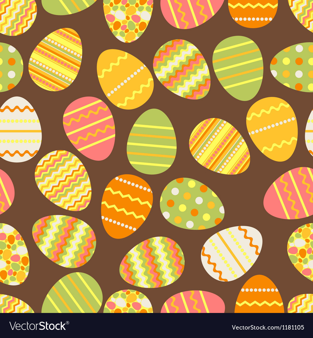Happy easter retro seamless pattern vector | Price: 1 Credit (USD $1)