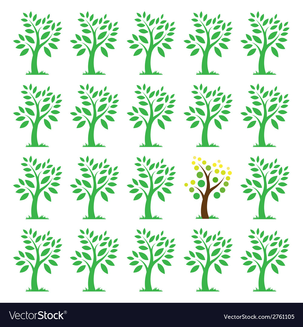 Images of trees vector | Price: 1 Credit (USD $1)