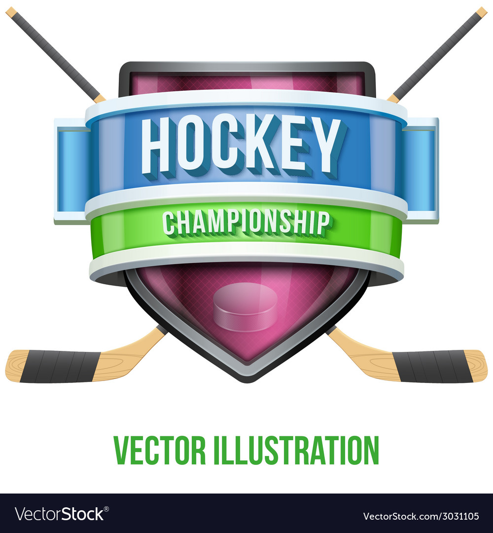 Label for hockey sport competition bright premium vector | Price: 1 Credit (USD $1)