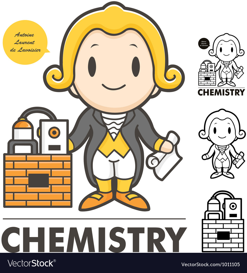 Lavoisier the father of modern chemistry vector | Price: 3 Credit (USD $3)