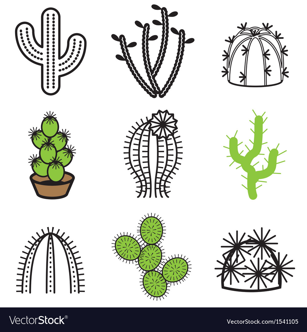 Logo icons cactus vector | Price: 1 Credit (USD $1)