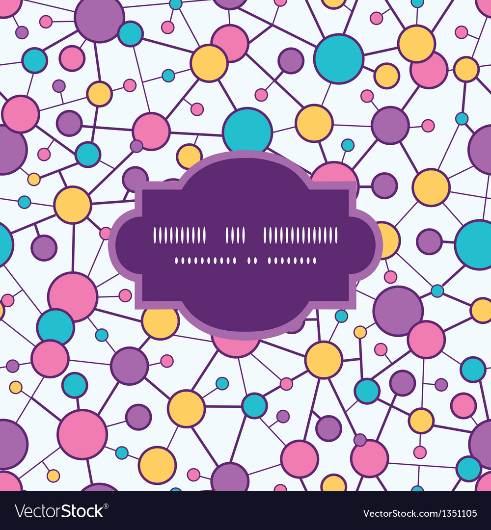 Molecular structure frame seamless pattern vector | Price: 1 Credit (USD $1)