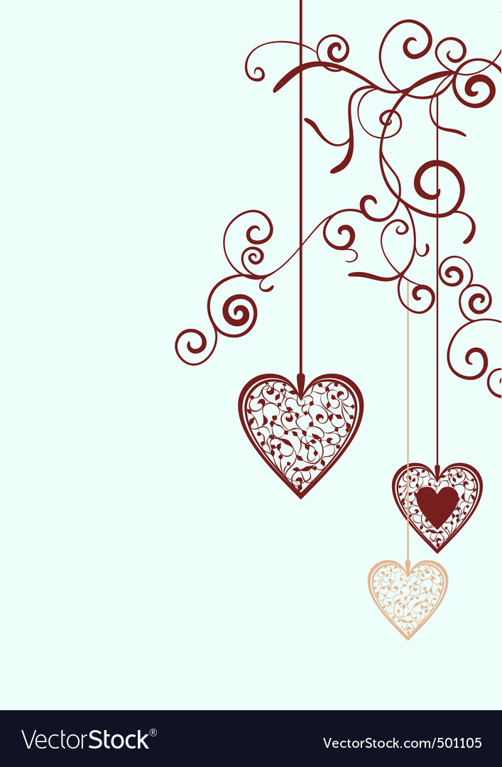 Ornate hearts vector | Price: 1 Credit (USD $1)