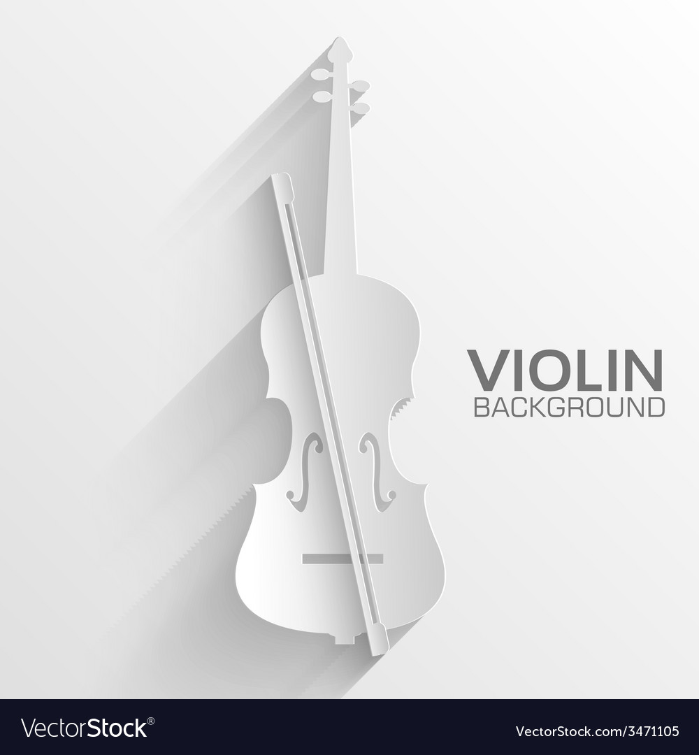Paper violin background concept tamplate fo vector | Price: 1 Credit (USD $1)