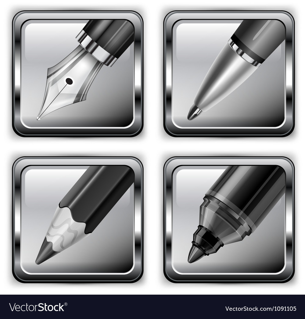 Pen icon set 10 v vector | Price: 1 Credit (USD $1)