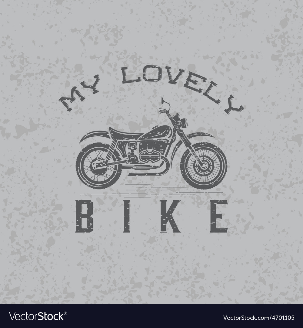 Vintage grunge motorcycle graphic design template vector   Price: 1 Credit (USD $1)