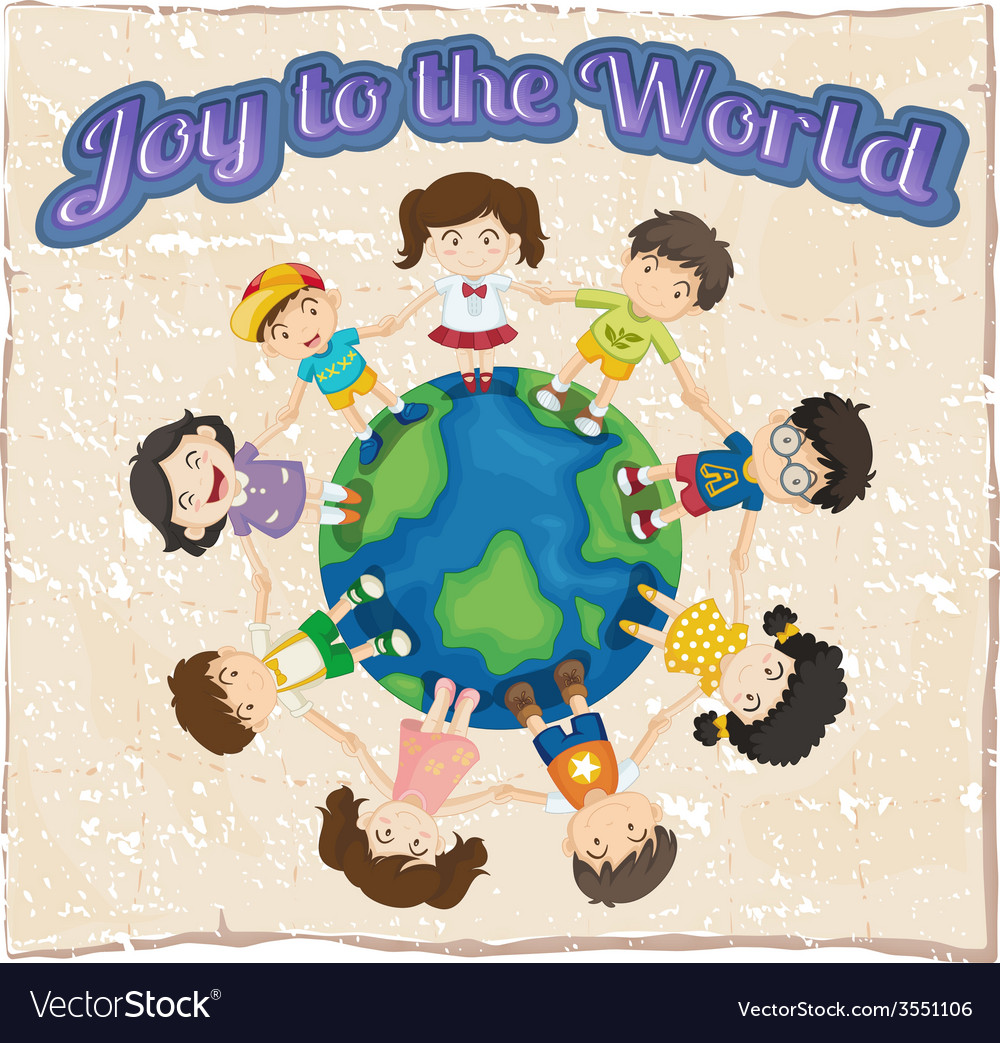 A joy to the world template vector | Price: 1 Credit (USD $1)