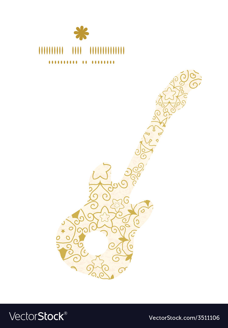 Abstract swirls old paper texture guitar music vector | Price: 1 Credit (USD $1)