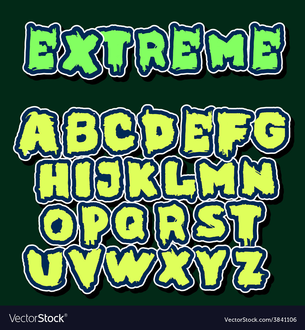 English alphabet in graffiti style vector | Price: 1 Credit (USD $1)