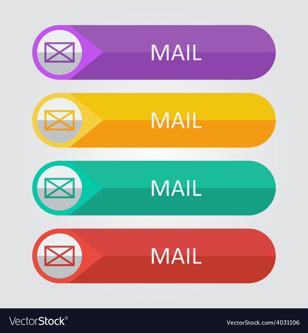 Flat buttons mail vector | Price: 1 Credit (USD $1)