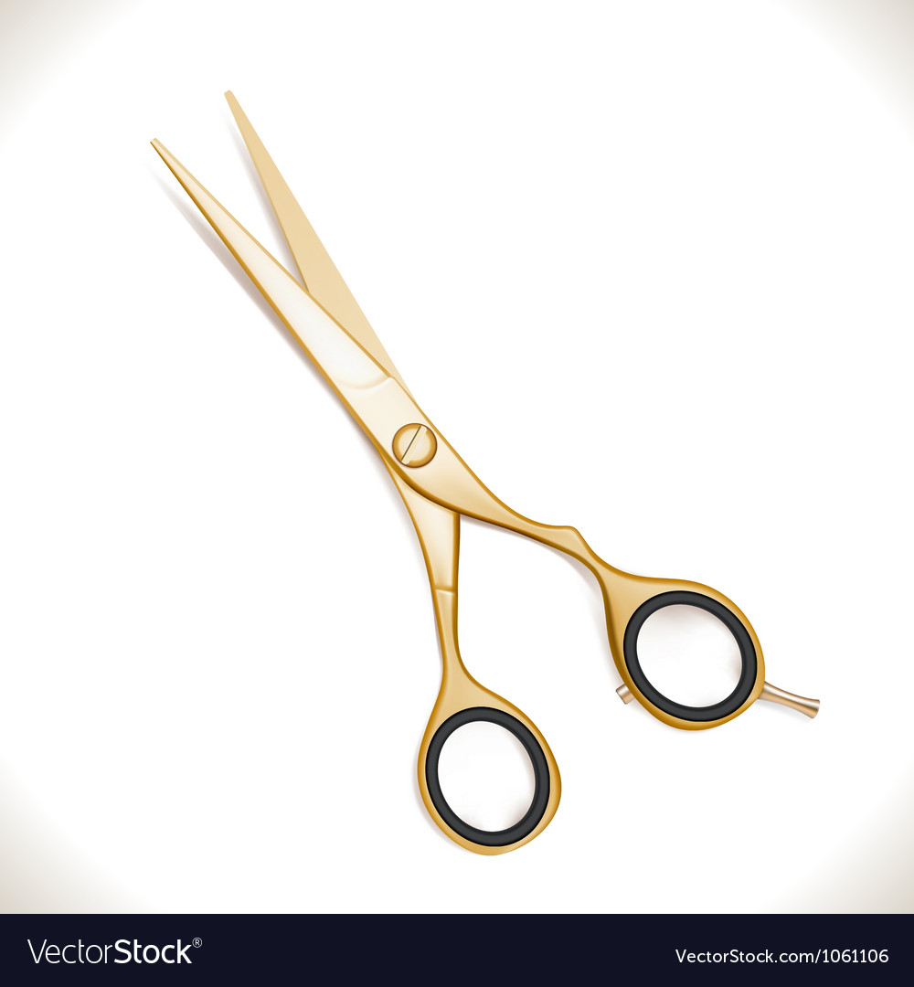 Golden scissors vector | Price: 1 Credit (USD $1)