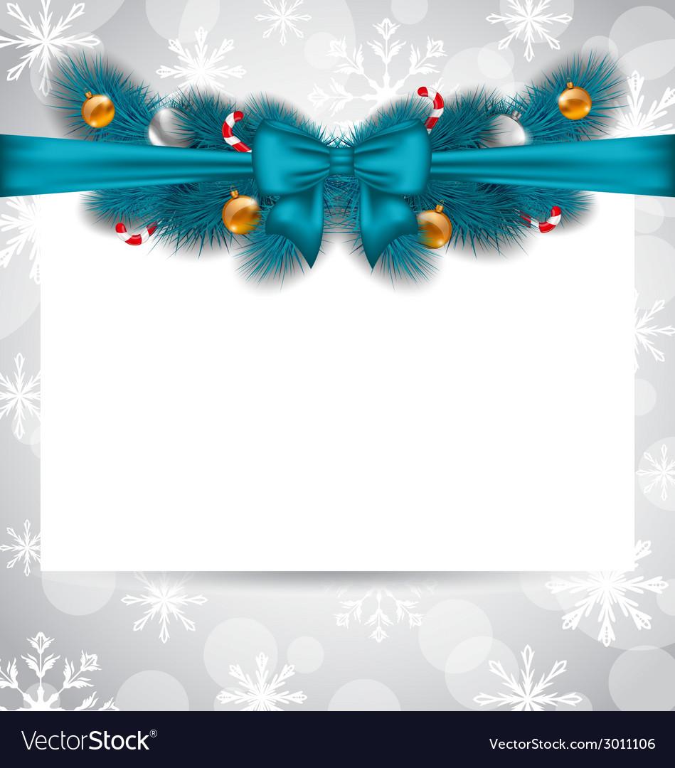 Greeting elegant invitation with christmas vector | Price: 1 Credit (USD $1)