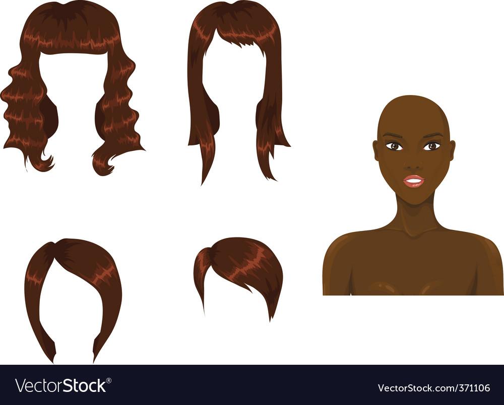 Hair brown vector | Price: 1 Credit (USD $1)