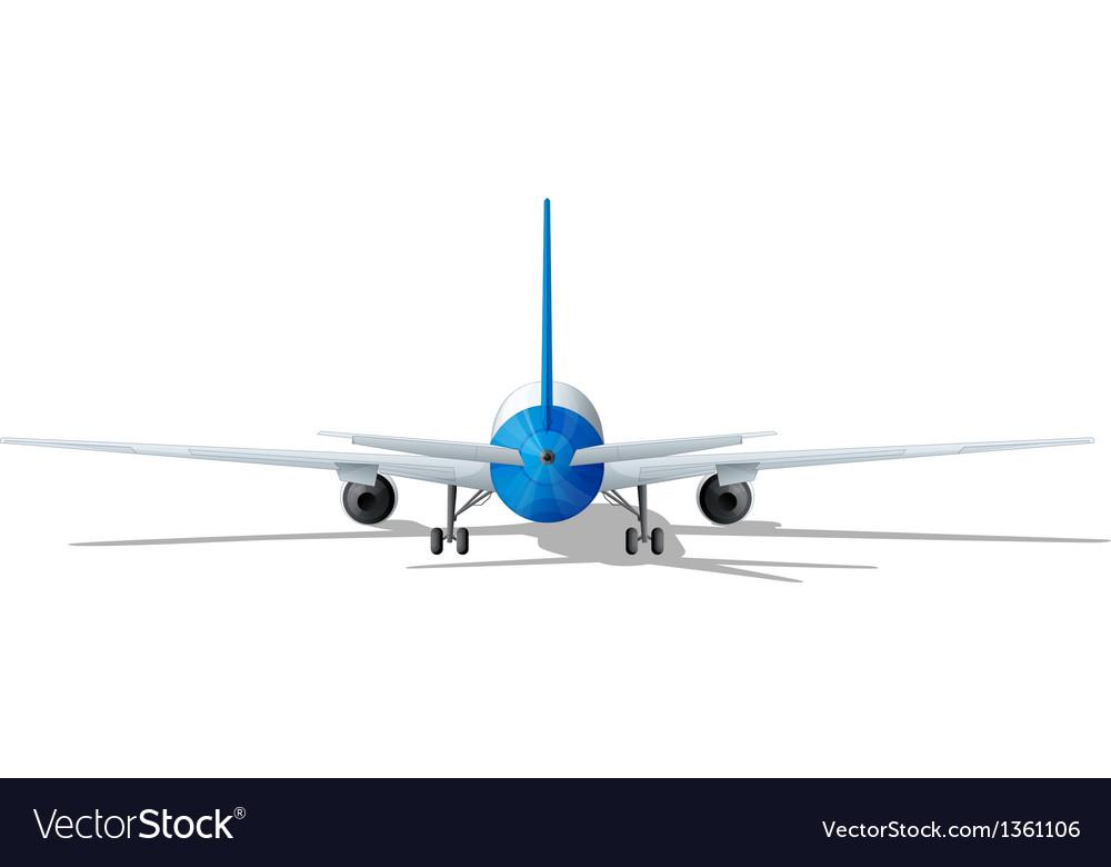 Rear plane vector | Price: 1 Credit (USD $1)