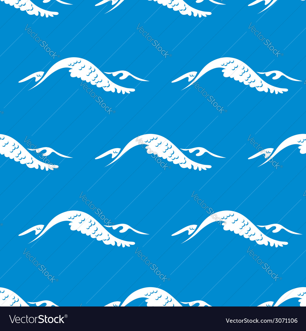 Seamless pattern of a cresting ocean wave vector | Price: 1 Credit (USD $1)