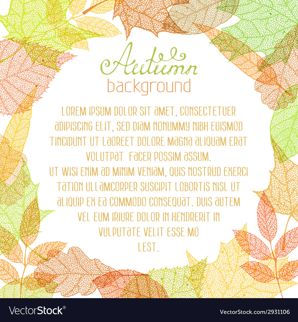 Square autumn background vector | Price: 1 Credit (USD $1)