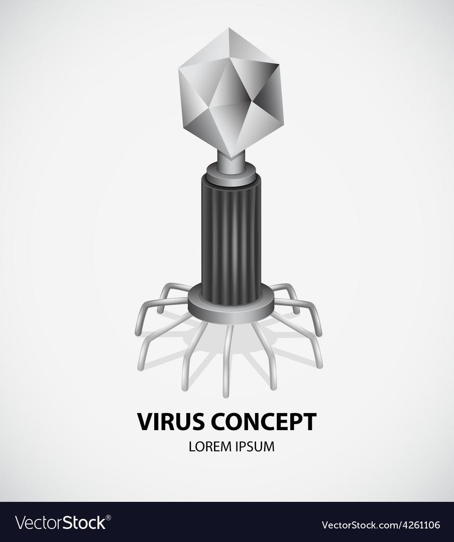 Virus concept vector | Price: 1 Credit (USD $1)