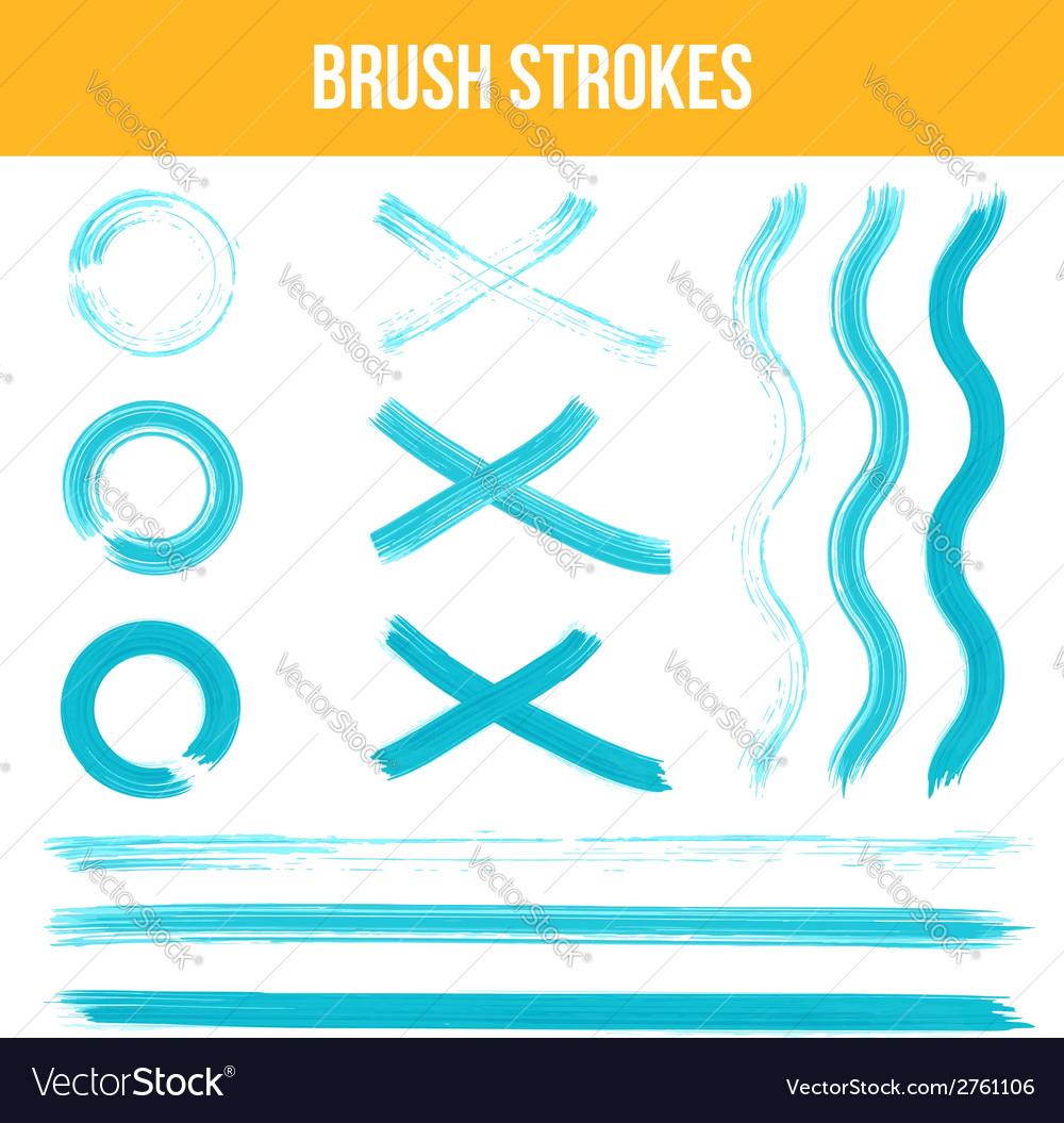 Watercolor brush strokes vector | Price: 1 Credit (USD $1)
