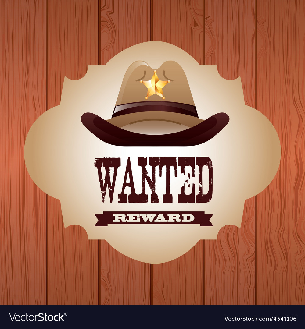 Western banner vector | Price: 1 Credit (USD $1)