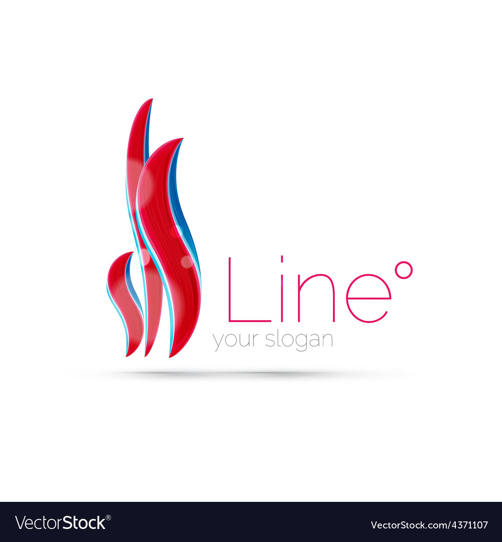 Abstract wave line logo vector | Price: 1 Credit (USD $1)