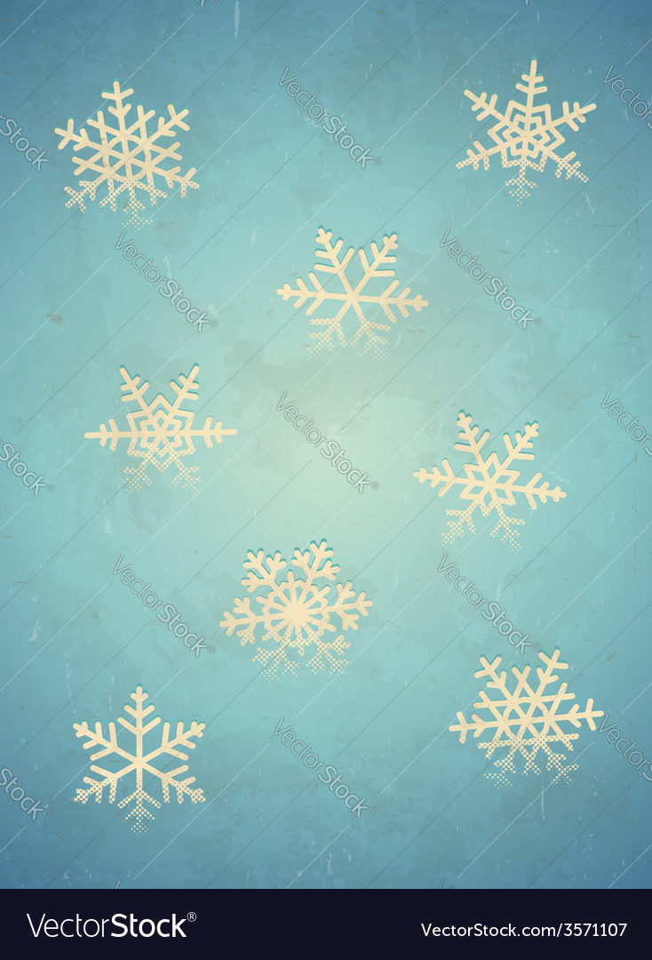 Aged card with snowflake vector | Price: 1 Credit (USD $1)