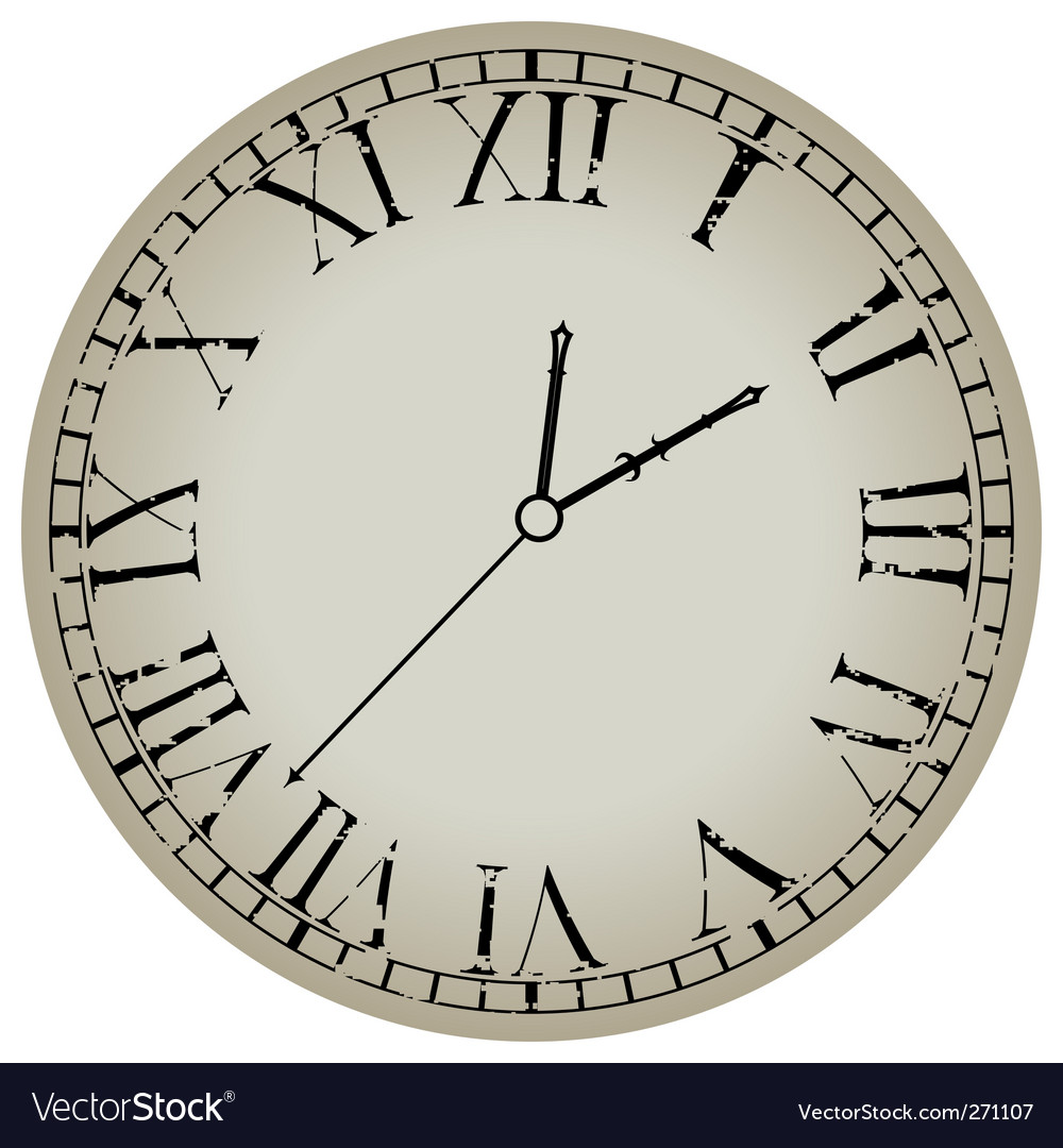 Ancient clock vector | Price: 1 Credit (USD $1)