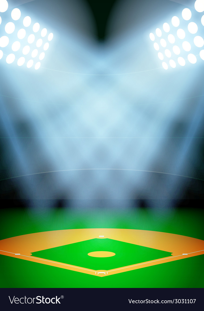 Background for posters night baseball stadium in vector | Price: 1 Credit (USD $1)