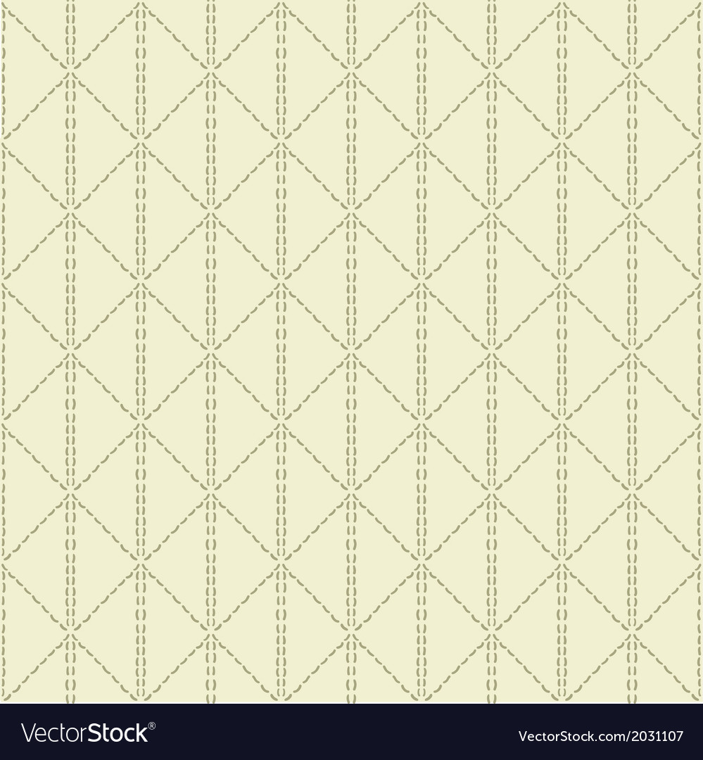 Beige quilted seamless pattern background vector | Price: 1 Credit (USD $1)