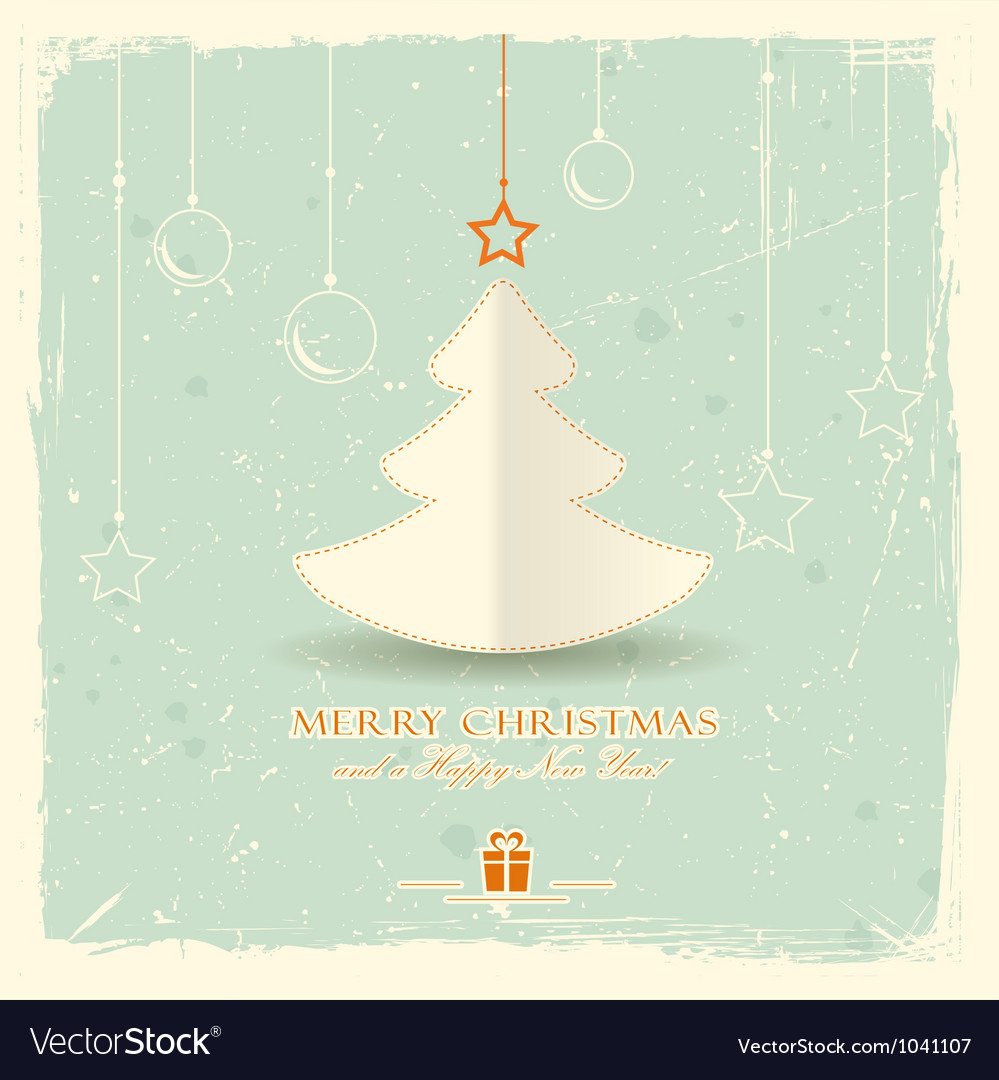Christmas tree with hanging ornaments vector   Price: 1 Credit (USD $1)