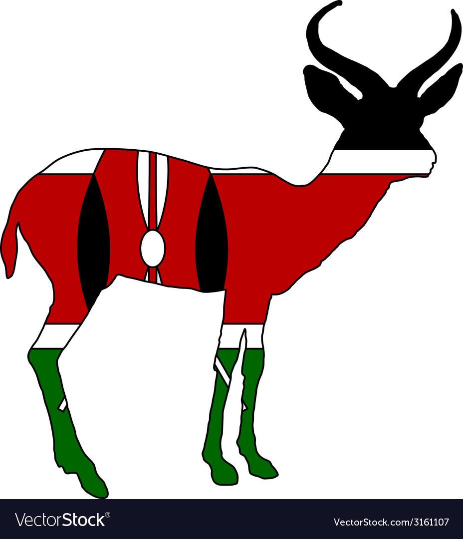 Kenya antelope vector | Price: 1 Credit (USD $1)