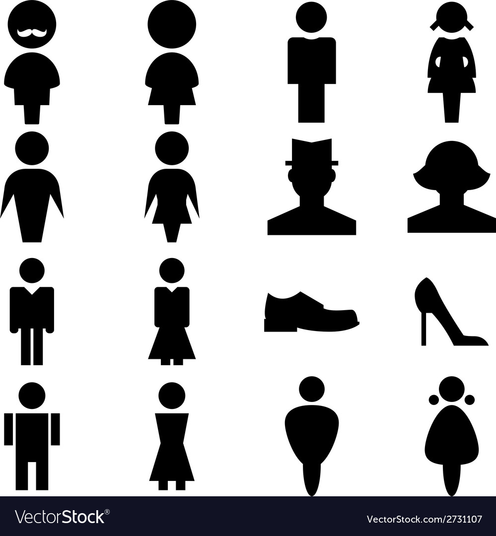 Man and women icon vector | Price: 1 Credit (USD $1)