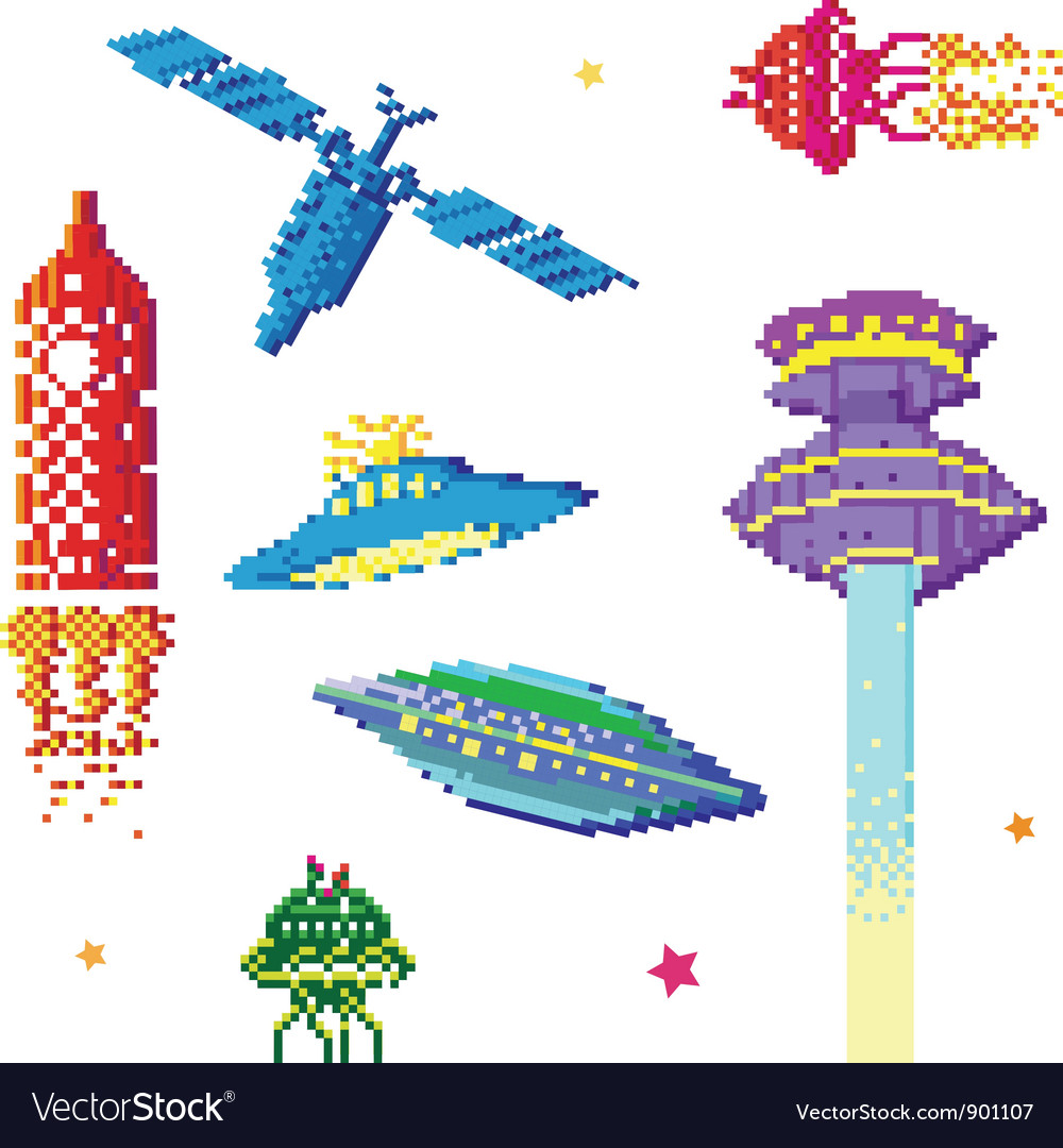 Space ships vector | Price: 1 Credit (USD $1)