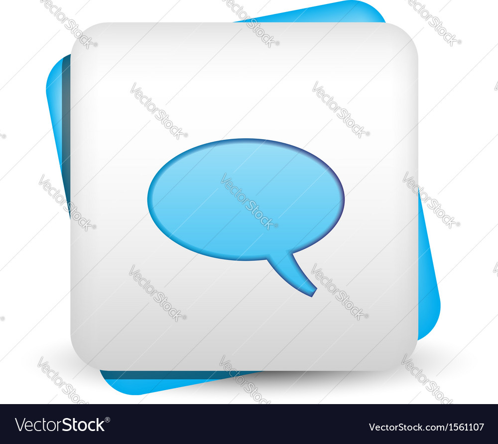 Speech bubble icon vector | Price: 1 Credit (USD $1)
