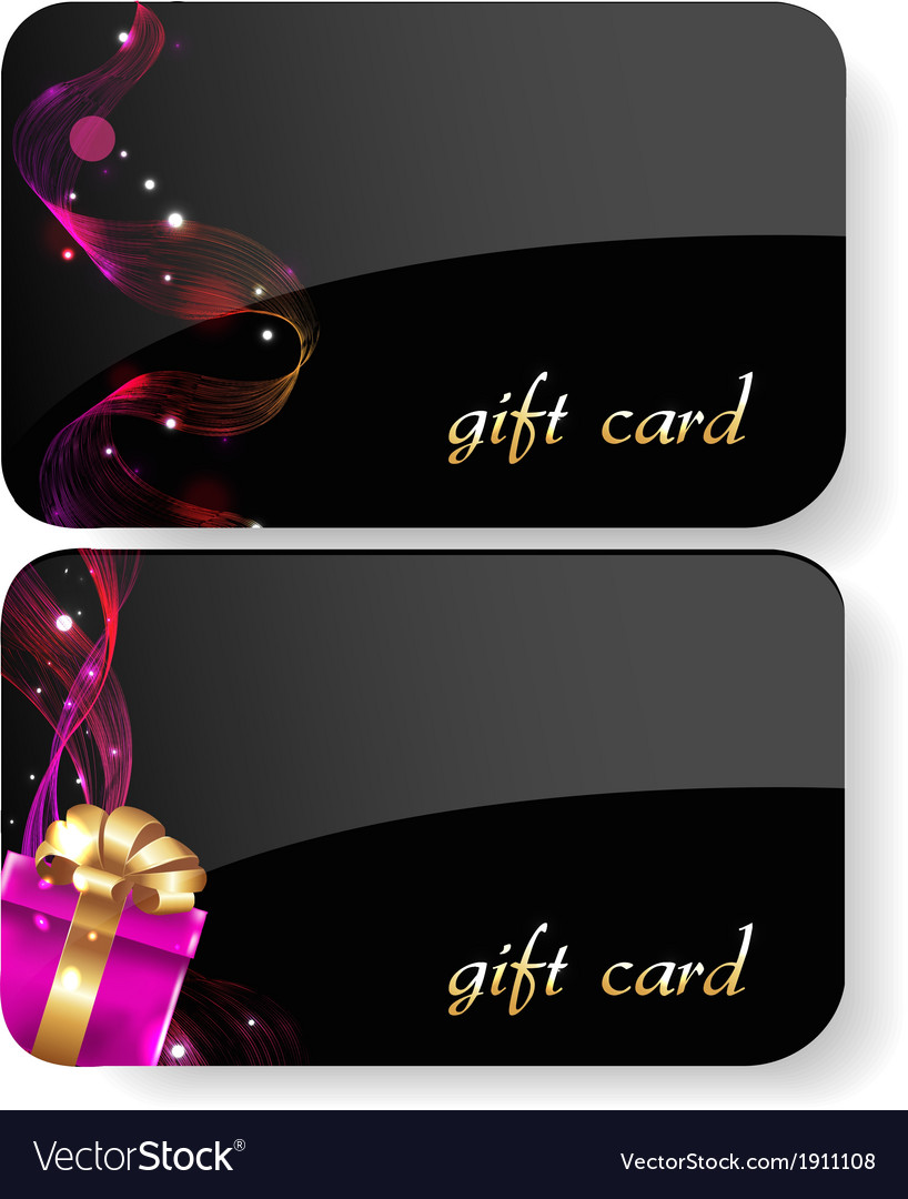 Black gift card set vector | Price: 1 Credit (USD $1)