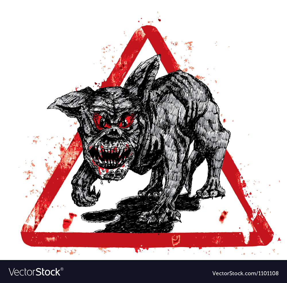 Black hell dog vector | Price: 1 Credit (USD $1)
