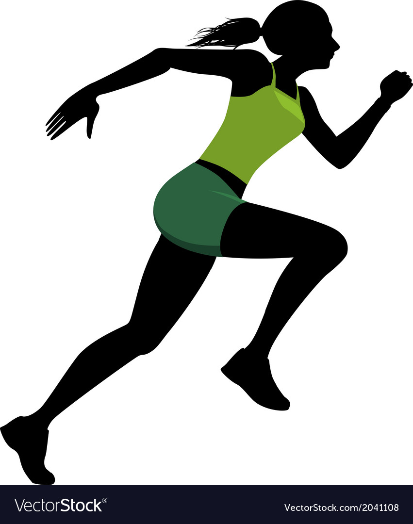 Female runner silhouette vector | Price: 1 Credit (USD $1)