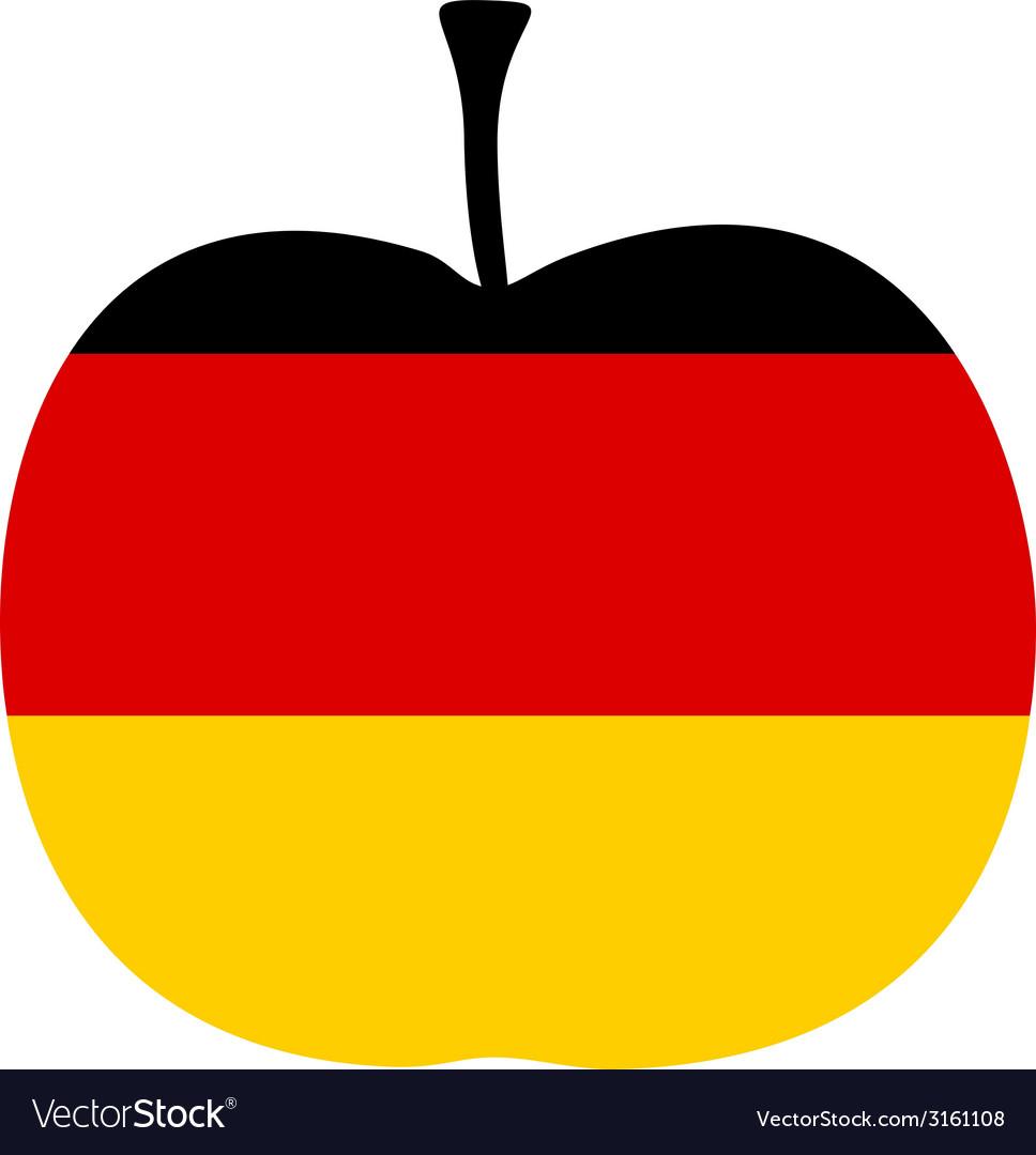 German apple vector | Price: 1 Credit (USD $1)