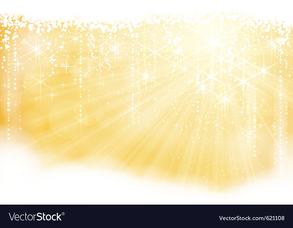 Golden sparkling christmas theme vector | Price: 1 Credit (USD $1)