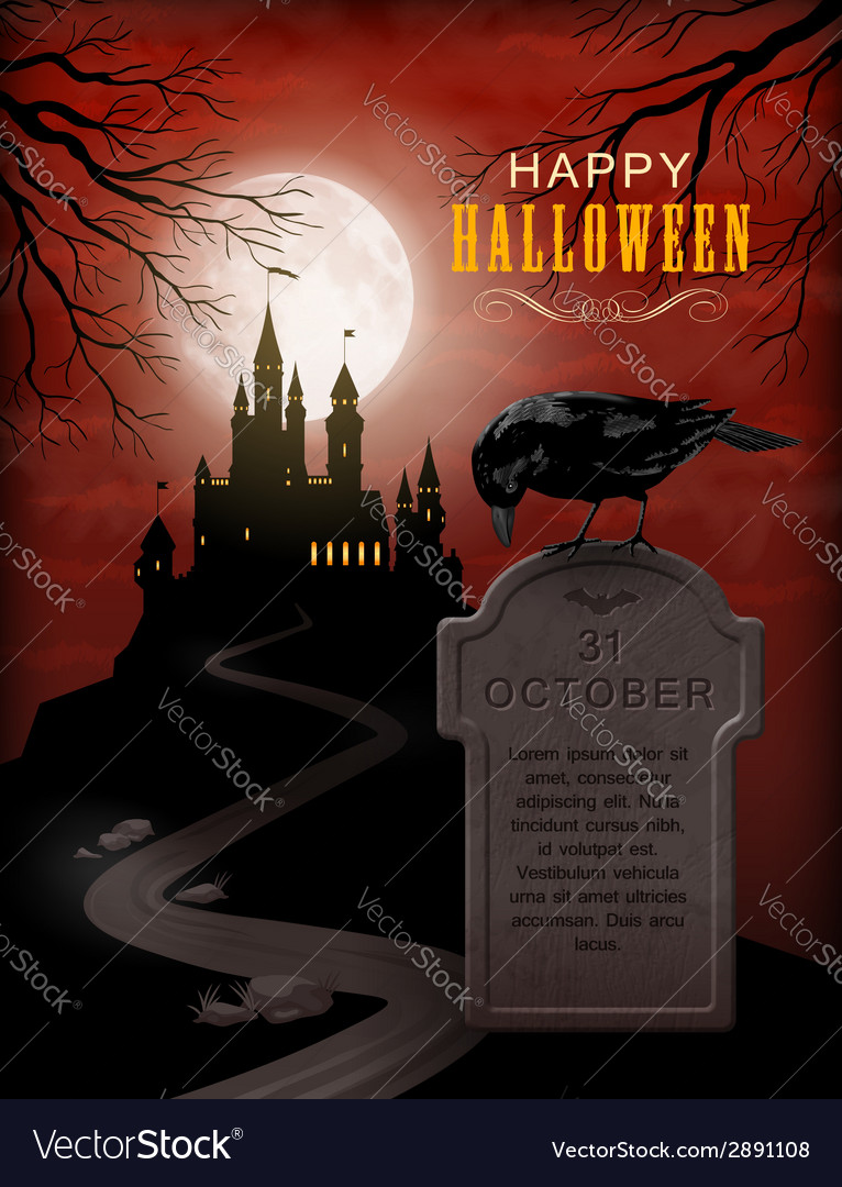 Halloween party invitation vector | Price: 3 Credit (USD $3)