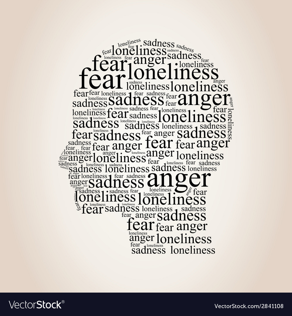 Head of words vector | Price: 1 Credit (USD $1)