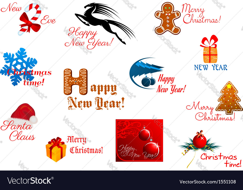 Holiday symbols and tags vector | Price: 1 Credit (USD $1)