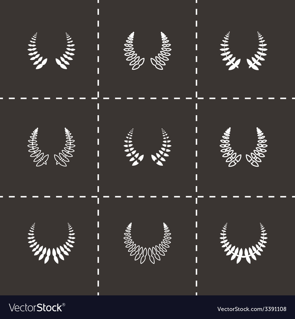 Laurel wreaths icon set vector   Price: 1 Credit (USD $1)