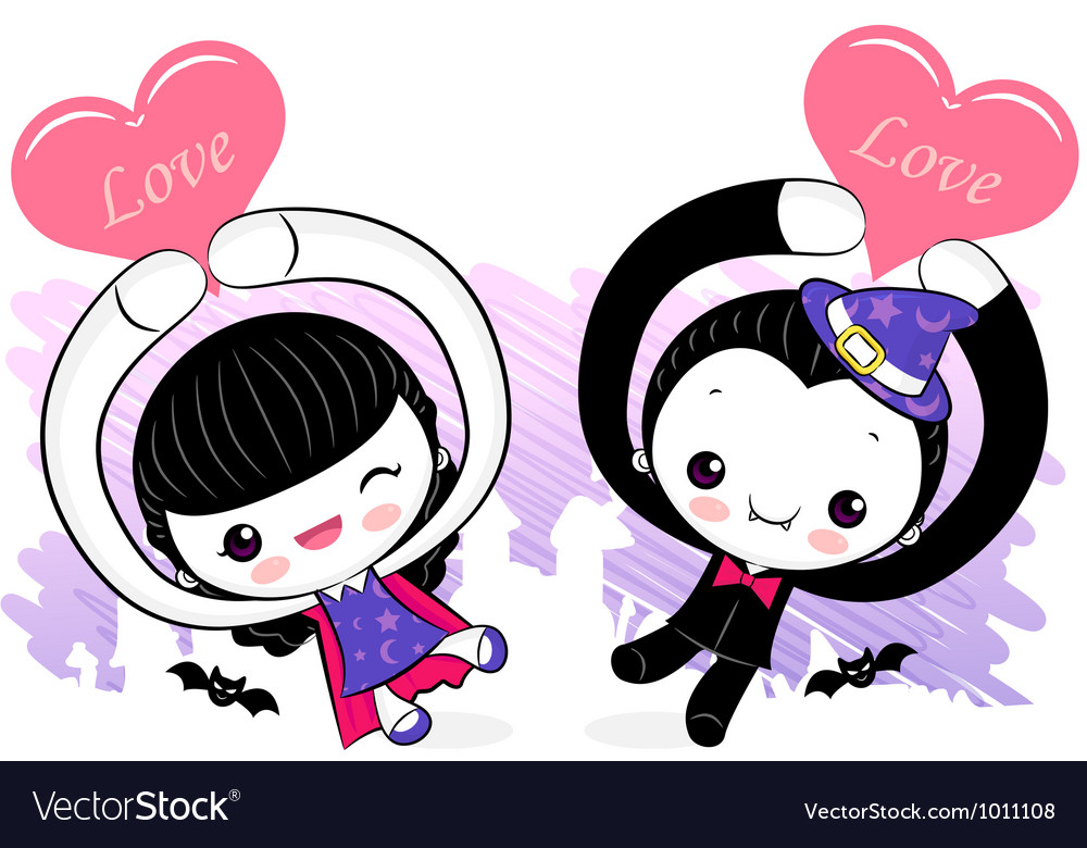 Love the event witches and dracula couples vector | Price: 3 Credit (USD $3)