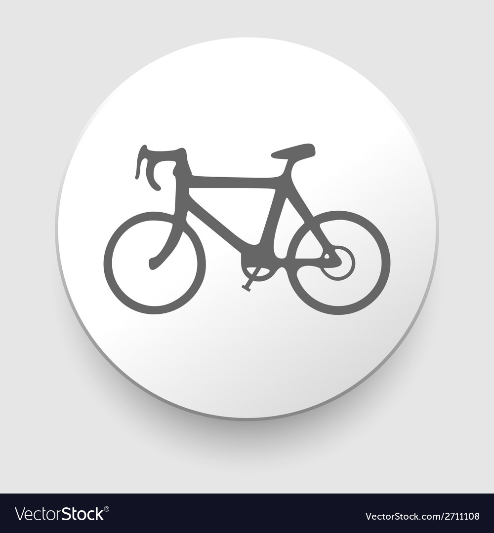 Minimalistic bicycle icon  eps10 vector | Price: 1 Credit (USD $1)