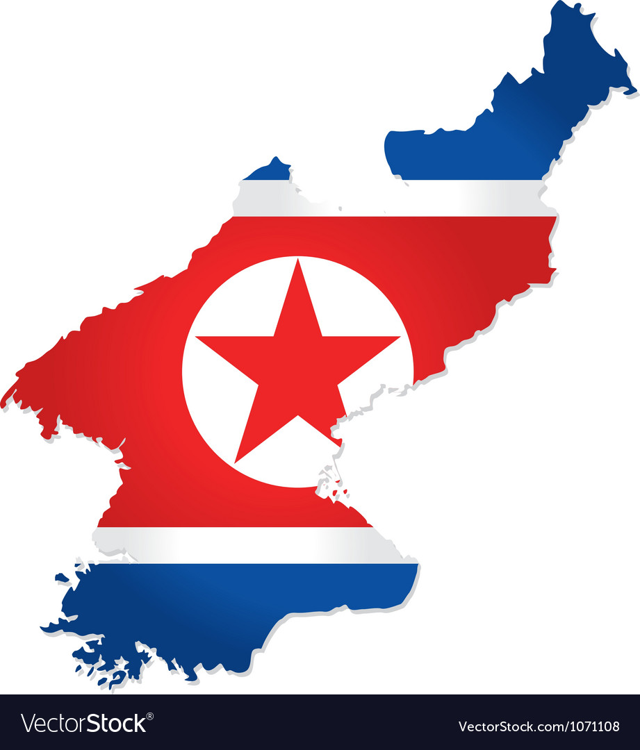 North korea map vector | Price: 1 Credit (USD $1)