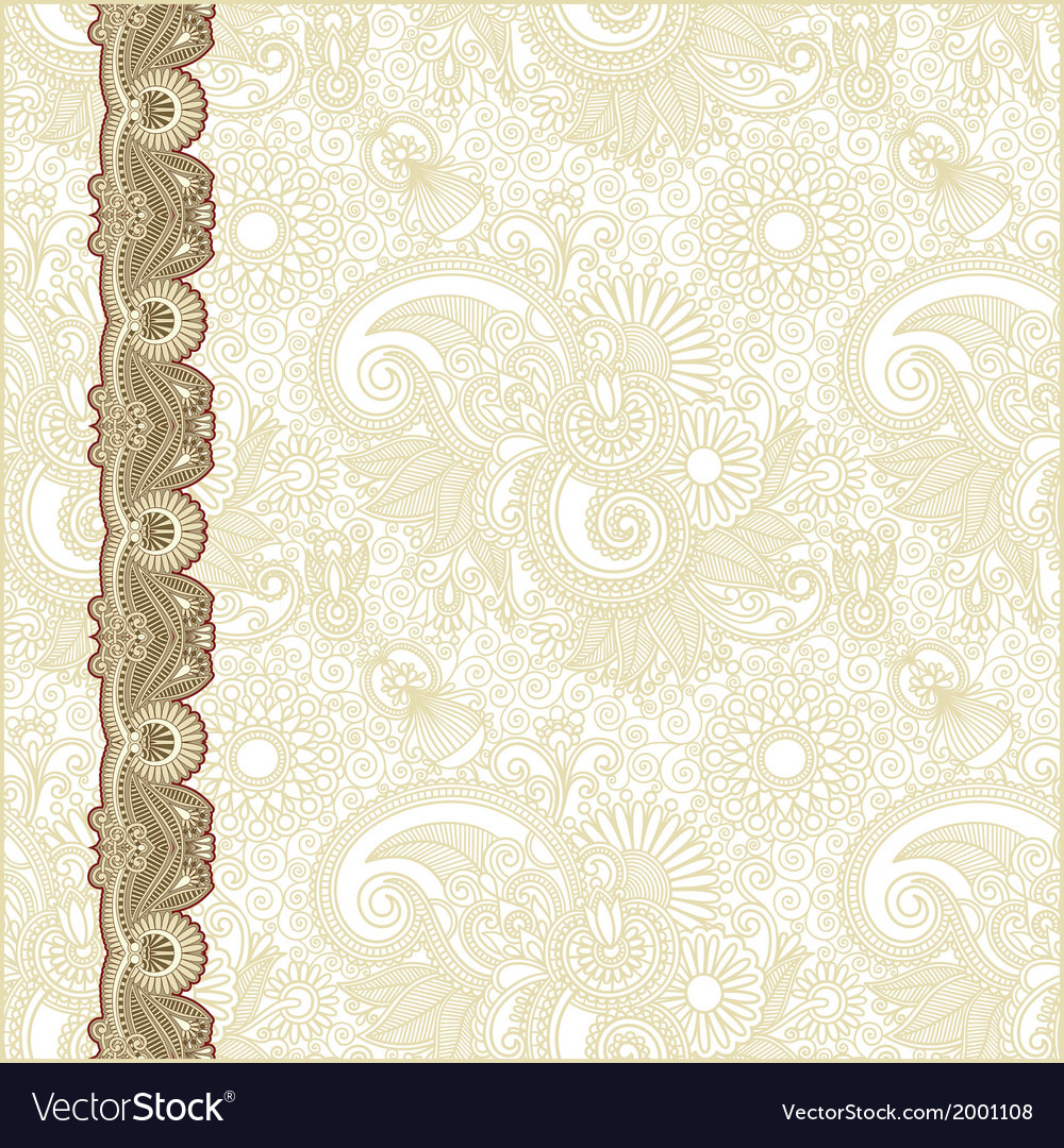 Ornate abstract flower background vector | Price: 1 Credit (USD $1)