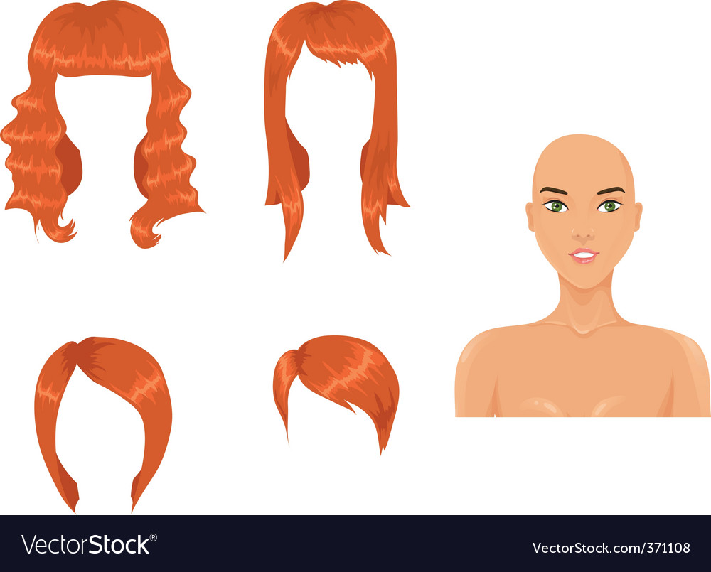 Red hair vector | Price: 1 Credit (USD $1)