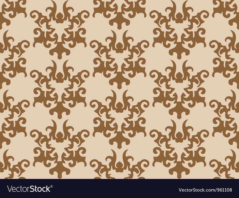 Seamless retro wallpaper vector | Price: 1 Credit (USD $1)