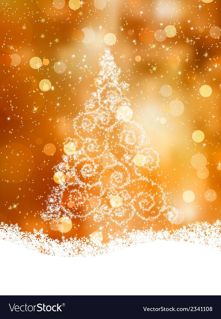 Shinny christmas tree eps 8 vector | Price: 1 Credit (USD $1)
