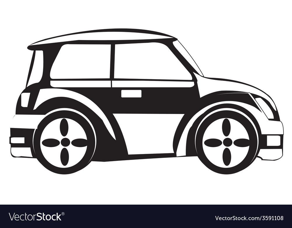 Silhouette of the car vector | Price: 1 Credit (USD $1)